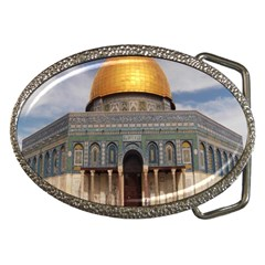 The Dome Of The Rock  Belt Buckle (oval) by AlfredFoxArt
