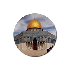 The Dome Of The Rock  Drink Coasters 4 Pack (round) by AlfredFoxArt