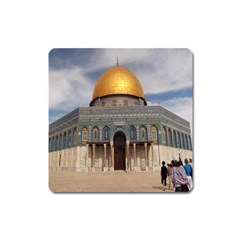 The Dome Of The Rock  Magnet (square) by AlfredFoxArt