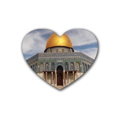 The Dome Of The Rock  Drink Coasters 4 Pack (heart)  by AlfredFoxArt