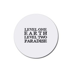Level One Earth Drink Coasters 4 Pack (round) by AlfredFoxArt