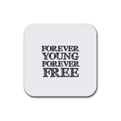 Forever Young Drink Coaster (square) by AlfredFoxArt