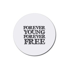 Forever Young Drink Coaster (round) by AlfredFoxArt