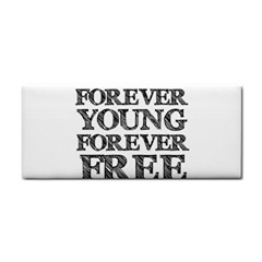 Forever Young Hand Towel by AlfredFoxArt