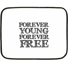 Forever Young Mini Fleece Blanket (two Sided) by AlfredFoxArt