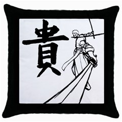 A Swordsman s Honor Black Throw Pillow Case by Viewtifuldrew