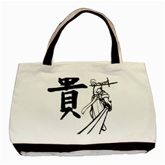 A Swordsman s Honor Twin Sided Black Tote Bag by Viewtifuldrew
