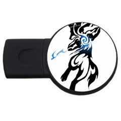 Alpha Dog 4gb Usb Flash Drive (round) by Viewtifuldrew