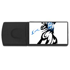 Alpha Dog 4gb Usb Flash Drive (rectangle) by Viewtifuldrew
