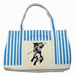 Alpha Dog Blue Striped Tote Bag by Viewtifuldrew
