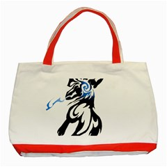 Alpha Dog Classic Tote Bag (red) by Viewtifuldrew