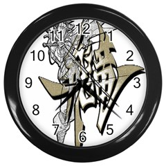 The Flying Dragon Wall Clock (black) by Viewtifuldrew