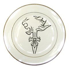 Maybe I m A Lion Porcelain Display Plate by Viewtifuldrew