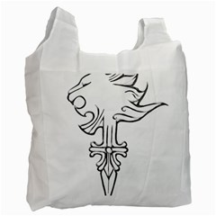 Maybe I m A Lion White Reusable Bag (one Side)