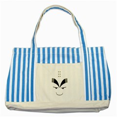 Purvy Monk Blue Striped Tote Bag by Viewtifuldrew