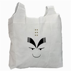 Purvy Monk White Reusable Bag (two Sides) by Viewtifuldrew