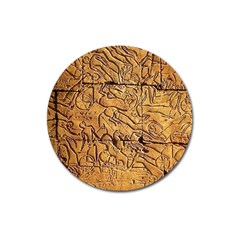 Ancient Egypt Mural 12aug 2014 Magnet 3  (round)