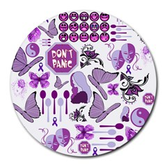 Fms Mash Up 8  Mouse Pad (round) by FunWithFibro