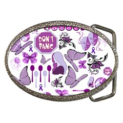 Fms Mash Up Belt Buckle (oval) by FunWithFibro
