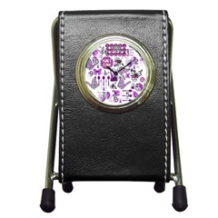 Fms Mash Up Stationery Holder Clock by FunWithFibro
