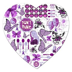 Fms Mash Up Jigsaw Puzzle (heart) by FunWithFibro