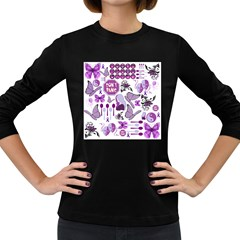 Fms Mash Up Women s Long Sleeve T Shirt (dark Colored) by FunWithFibro