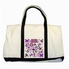 Fms Mash Up Two Toned Tote Bag by FunWithFibro