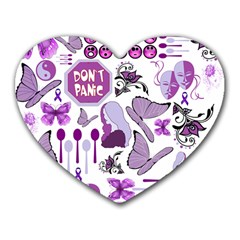 Fms Mash Up Mouse Pad (heart) by FunWithFibro