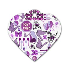 Fms Mash Up Dog Tag Heart (two Sided) by FunWithFibro