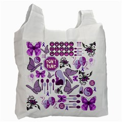 Fms Mash Up White Reusable Bag (one Side) by FunWithFibro