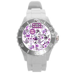 Fms Mash Up Plastic Sport Watch (large) by FunWithFibro