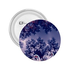 Pink And Blue Morning Frost Fractal 2 25  Button by Artist4God