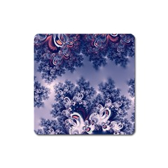 Pink And Blue Morning Frost Fractal Magnet (square) by Artist4God