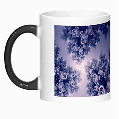 Pink And Blue Morning Frost Fractal Morph Mug