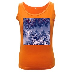 Pink And Blue Morning Frost Fractal Women s Tank Top (dark Colored)