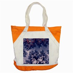 Pink And Blue Morning Frost Fractal Accent Tote Bag by Artist4God