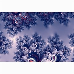 Pink And Blue Morning Frost Fractal Canvas 12  X 18  (unframed) by Artist4God