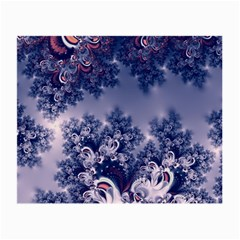 Pink And Blue Morning Frost Fractal Glasses Cloth (small, Two Sided)