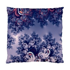 Pink And Blue Morning Frost Fractal Cushion Case (two Sided)