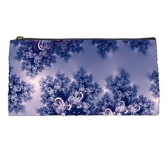 Pink And Blue Morning Frost Fractal Pencil Case by Artist4God