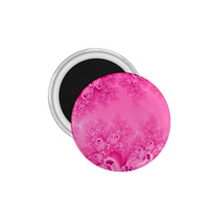 Soft Pink Frost Of Morning Fractal 1 75  Button Magnet by Artist4God