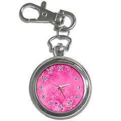 Soft Pink Frost Of Morning Fractal Key Chain Watch by Artist4God