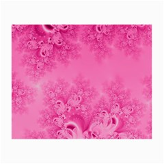 Soft Pink Frost Of Morning Fractal Glasses Cloth (small) by Artist4God