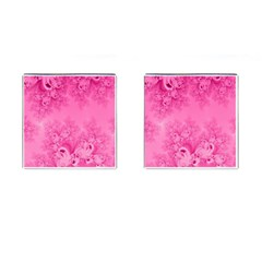 Soft Pink Frost Of Morning Fractal Cufflinks (square) by Artist4God