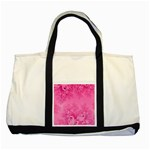 Soft Pink Frost of Morning Fractal Two Toned Tote Bag Front