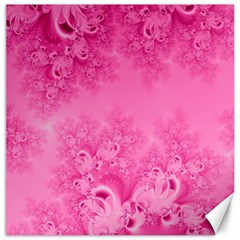 Soft Pink Frost Of Morning Fractal Canvas 16  X 16  (unframed) by Artist4God