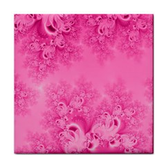 Soft Pink Frost Of Morning Fractal Face Towel by Artist4God