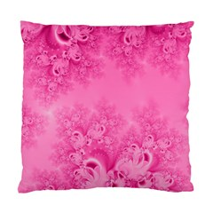 Soft Pink Frost Of Morning Fractal Cushion Case (two Sided)  by Artist4God