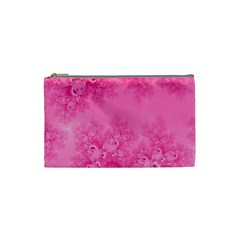 Soft Pink Frost Of Morning Fractal Cosmetic Bag (small)