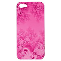 Soft Pink Frost Of Morning Fractal Apple Iphone 5 Hardshell Case by Artist4God